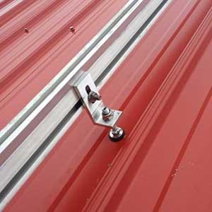 LMCC pavilion solar installation mounting screw.