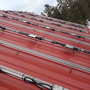 LMCC pavilion solar project microinvertor