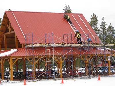 LMCC pavilion solar project rack