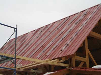 LMCC pavilion solar project rack mount.