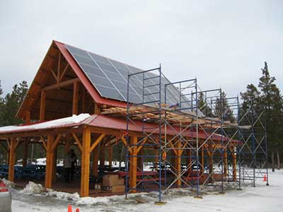 LMCC pavilion solar project panel installation completed