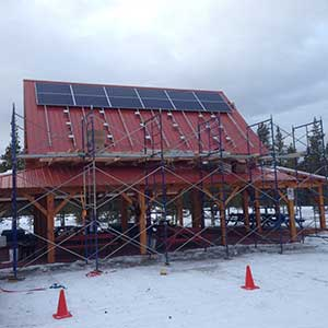LMCC pavilion solar project panel installation started