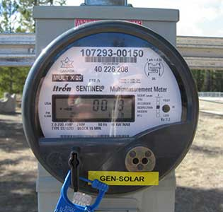 LMCC pavilion solar project bidirectional meter