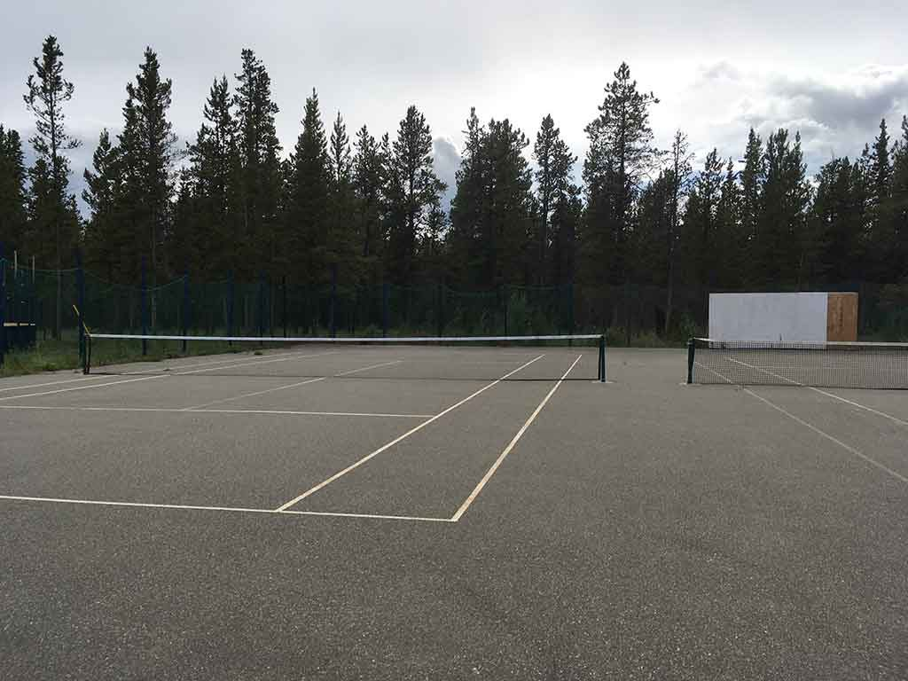 Tennis courts at LMCC.